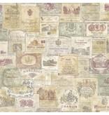 Noordwand Noordwand Memories G56173 Vintage Wijnetiketten