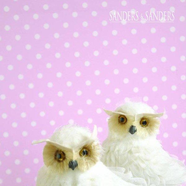 HD vliesbehang stippen zacht roze en wit