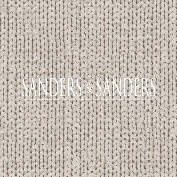 Sanders & Sanders HD vliesbehang borduursel lichtgrijs