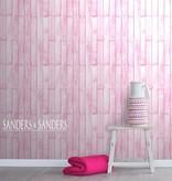 Sanders & Sanders HD vliesbehang hout licht roze