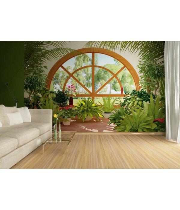 Fotobehang ag design winter garden 4d de behangwinkelier for 4d garden design