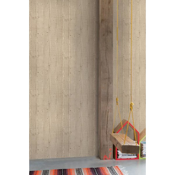 Dutch Wallcoverings Exposed Warehouse planken beige