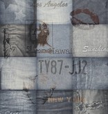 Dutch Wallcoverings Exposed Warehouse Amerika/jeans blauw