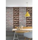 Dutch Wallcoverings Exposed Warehouse baksteen beige/blauw