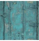 Dutch Wallcoverings Exposed Warehouse deur blauw