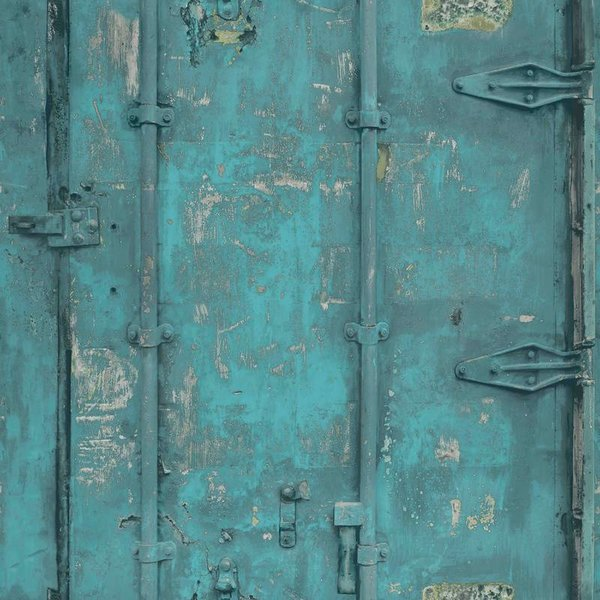 Dutch Wallcoverings Exposed Warehouse deur blauw