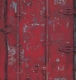 Dutch Wallcoverings Exposed Warehouse deur rood
