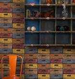 Dutch Wallcoverings Exposed Warehouse laden kleur