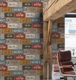 Dutch Wallcoverings Exposed Warehouse nummerbord