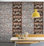 Dutch Wallcoverings Exposed Warehouse wijnflessen