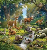 Dutch Wallcoverings Walltastic Animals of the Forest 12 delig
