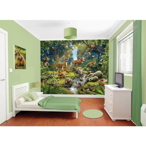 Dutch Wallcoverings Walltastic Animals of the Forest fotobehang