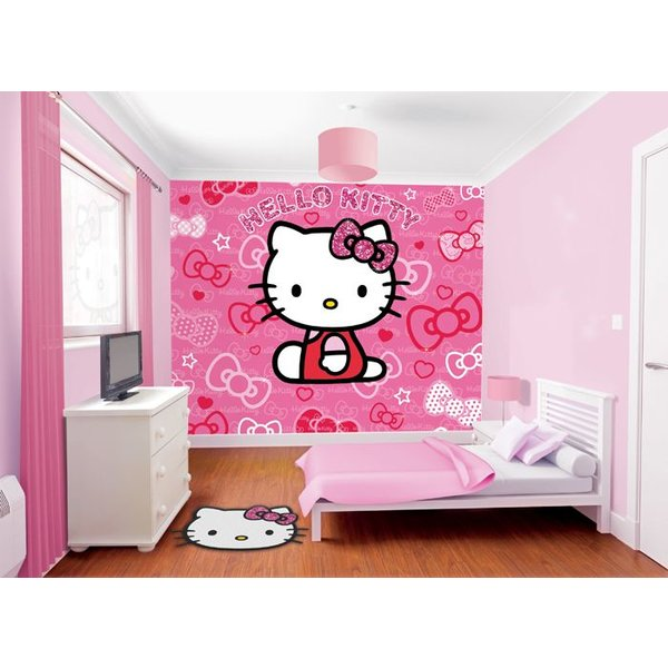 Dutch Wallcoverings Walltastic Hello Kitty fotobehang