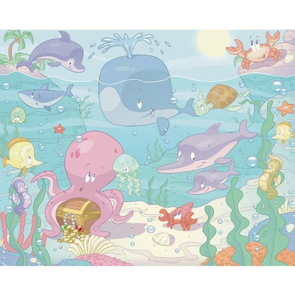 Dutch Wallcoverings Walltastic Baby Under the Sea 12 delig