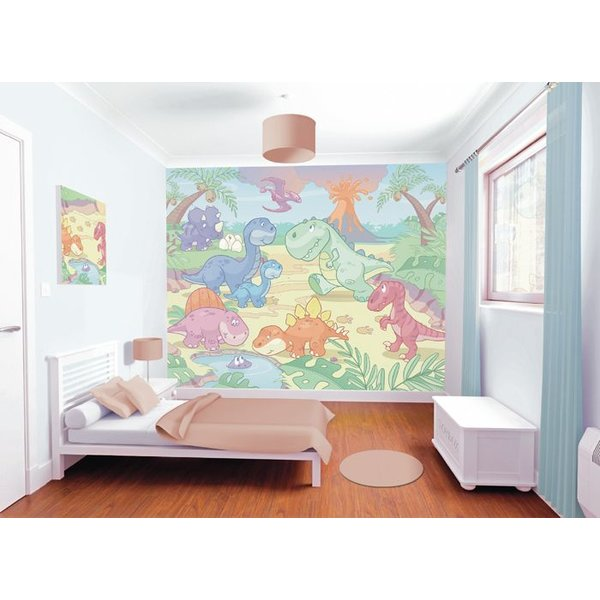 Dutch Wallcoverings Walltastic Baby Dino World 12 delig