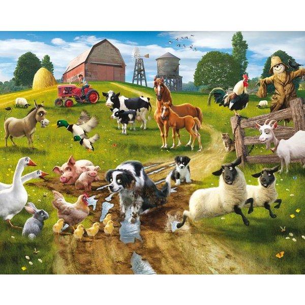 Dutch Wallcoverings Walltastic Farmyard Fun 12 delig