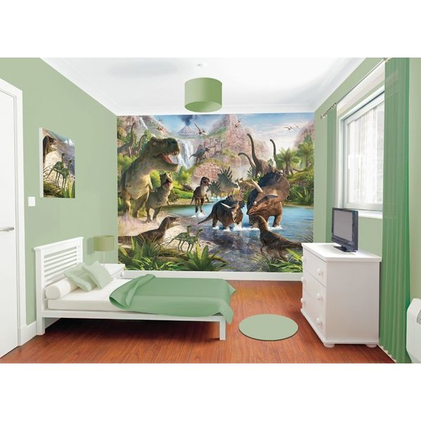Dutch Wallcoverings Walltastic Dinosaur Land fotobehang