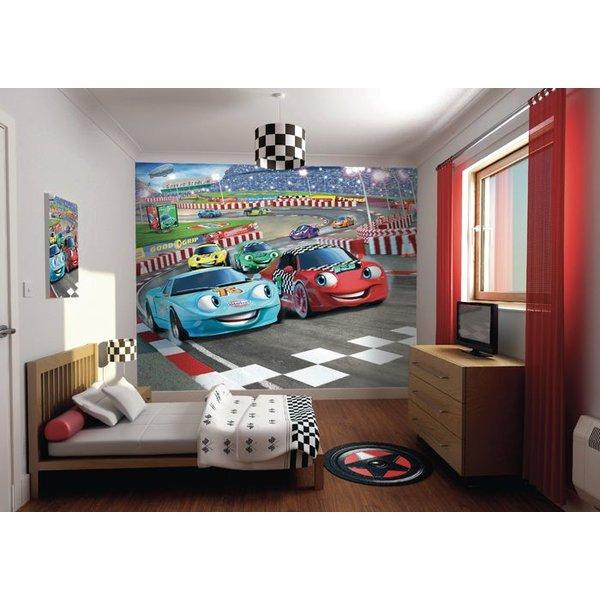 Dutch Wallcoverings Walltastic 3D Car Racers fotobehang