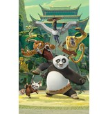 Dutch Wallcoverings Fotobehang Walltastic Kung Fu Panda 6 delig