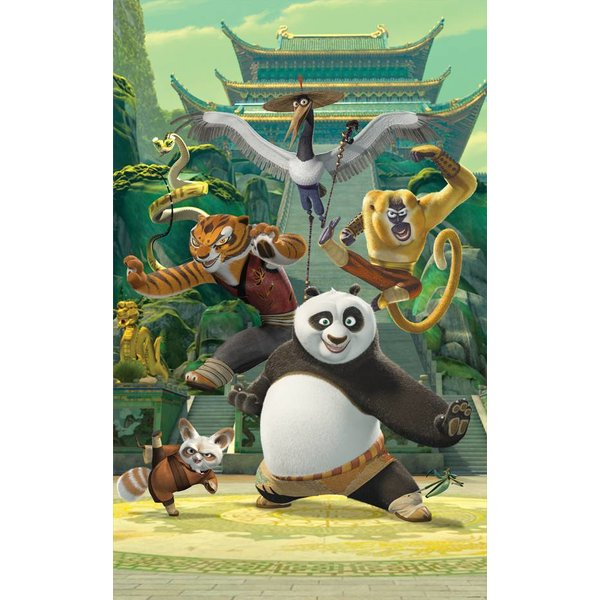 Dutch Wallcoverings Walltastic Kung Fu Panda Fotobehang