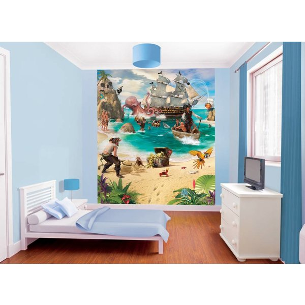 Dutch Wallcoverings Walltastic Pirate and Treasure 8 delig