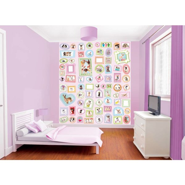 Dutch Wallcoverings Walltastic Adorable Pets fotobehang