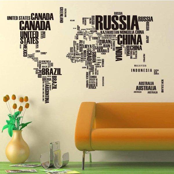 Muursticker World in words