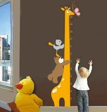 Muursticker Kinder Groei Giraffe
