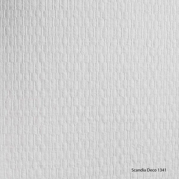 Scandia Glasweefselbehang Deco 1341 – Voorgeschilderd – Fijne Ruit - 25m2
