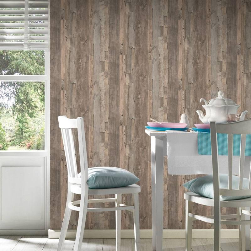As creation sloophout behang decoworld 954053 de behangwinkelier - Deco woonkamer behang ...