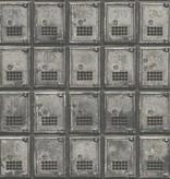Dutch Wallcoverings Reclaimed vintage kluisjes grijs