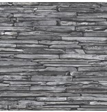 Dutch Wallcoverings Reclaimed leisteen behang donker grijs