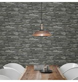 Dutch Wallcoverings Reclaimed leisteen behang grijs groen