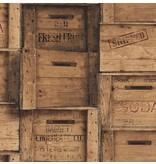 Dutch Wallcoverings Reclaimed houten kisten bruin