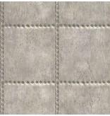 Dutch Wallcoverings Reclaimed geborsteld metaal behang grijs