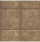 Dutch Wallcoverings Reclaimed geborsteld metaal behang koper