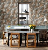 Dutch Wallcoverings Reclaimed rustiek metaal behang koper