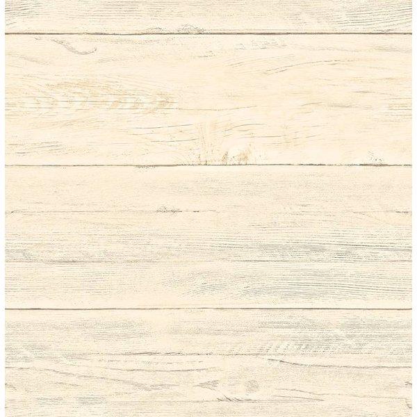 Reclaimed houten planken behang geel