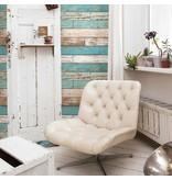 Dutch Wallcoverings Reclaimed verweerd hout blauw