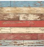 Dutch Wallcoverings Reclaimed verweerd hout rood