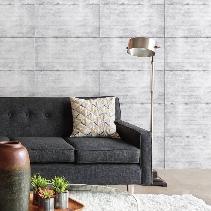 Dutch wallcoverings reclaimed beton behang grijs taupe for Behang per m2