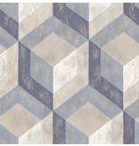 Dutch Wallcoverings Reclaimed honingraat blauw
