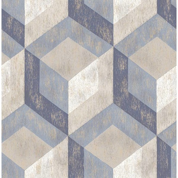 Dutch Wallcoverings Reclaimed honingraat blauw