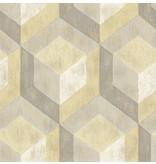 Dutch Wallcoverings Reclaimed honingraat geel