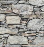 Dutch Wallcoverings Reclaimed leisteen behang grijs