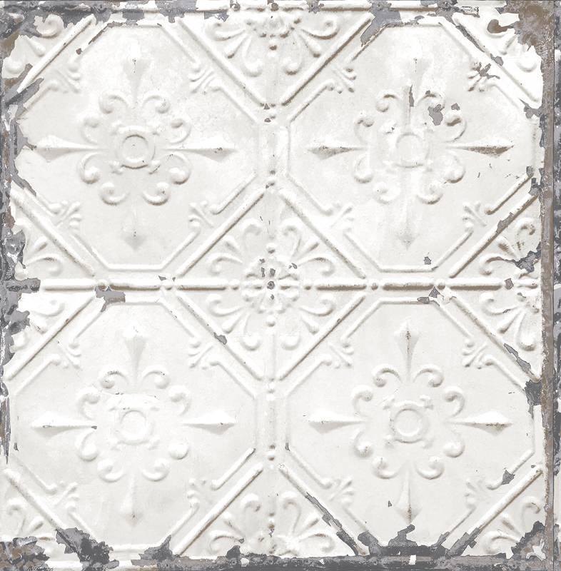 Home / Behang / Al het behang / Reclaimed vintage tegel behang grijs