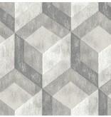 Dutch Wallcoverings Reclaimed honingraat grijs