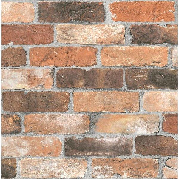 Dutch Wallcoverings Reclaimed Baksteen bruin