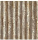 Dutch Wallcoverings Reclaimed golfplaten behang bruin grijs koper