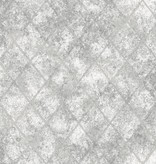 Dutch Wallcoverings Reclaimed metallic tegel behang grijs